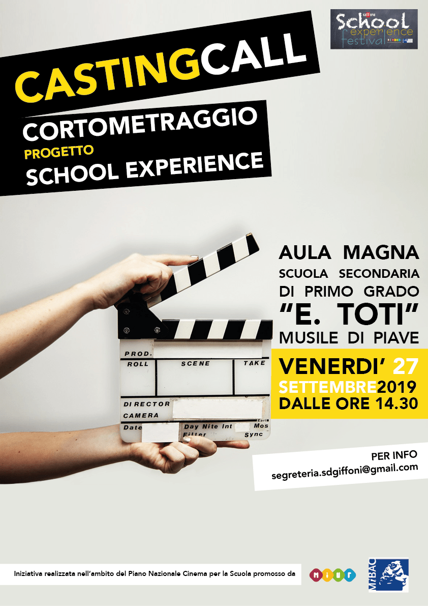 casting call school experience